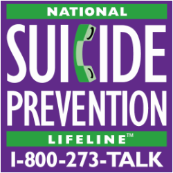 National Suicide Prevention Hotline 1-800-273-8255
