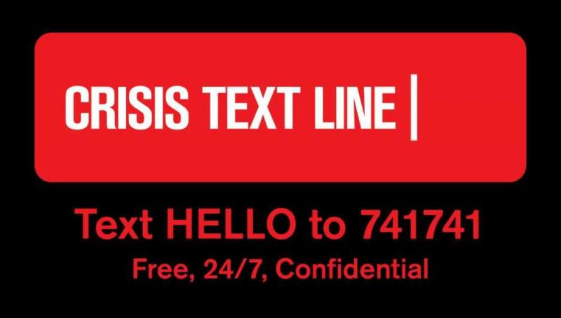 Crisis Text Line Text Hello to 741741
